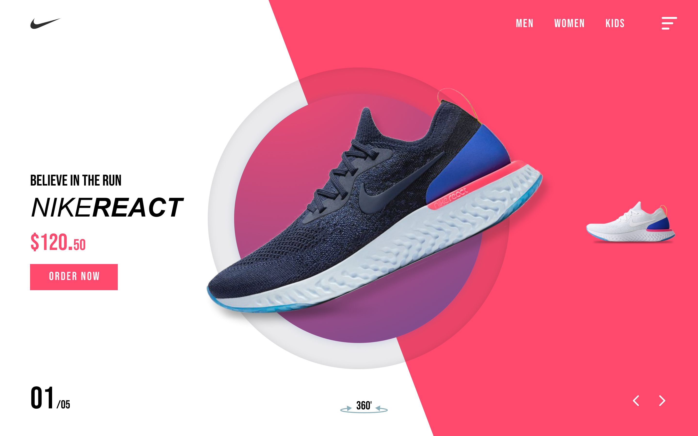 Nike Concept Website Design