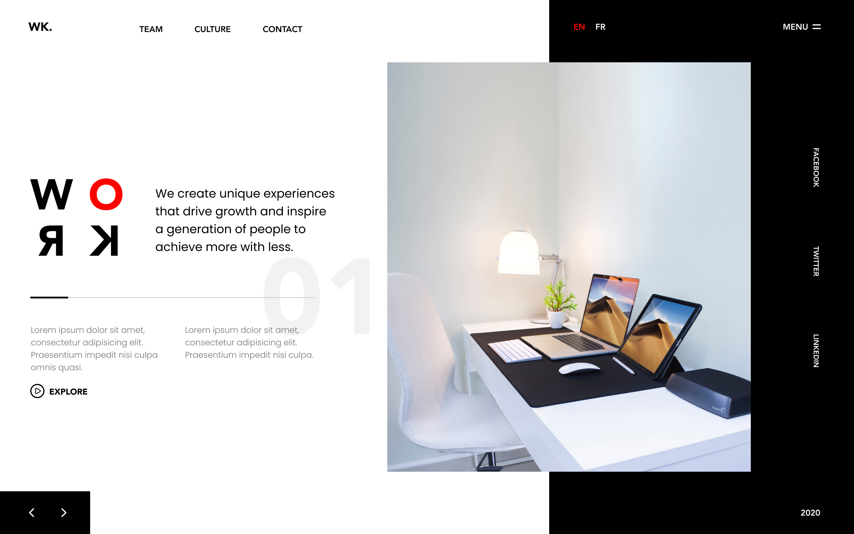Work Website Template