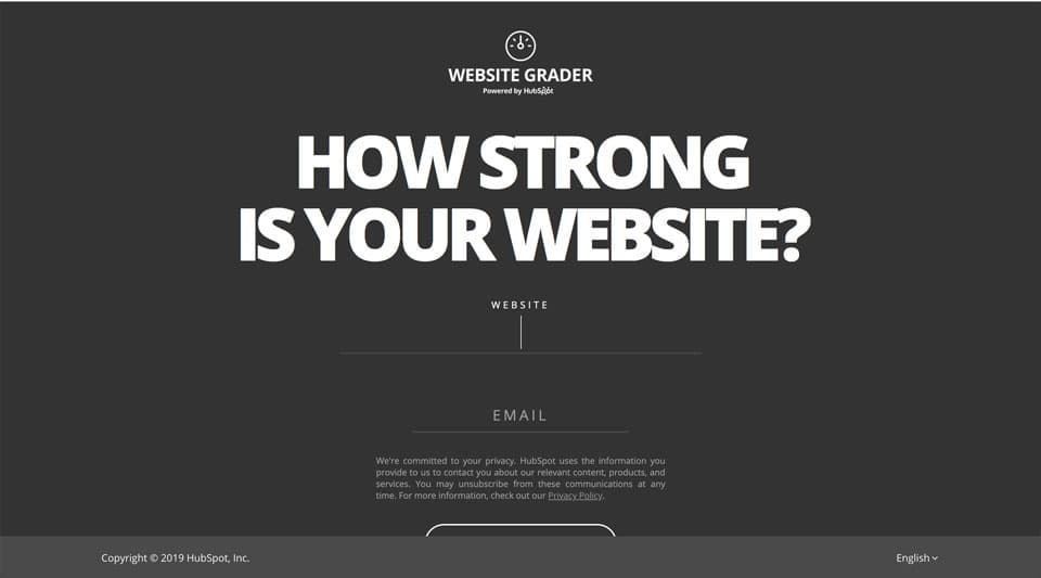 Website Auditing Tool - Website Grader