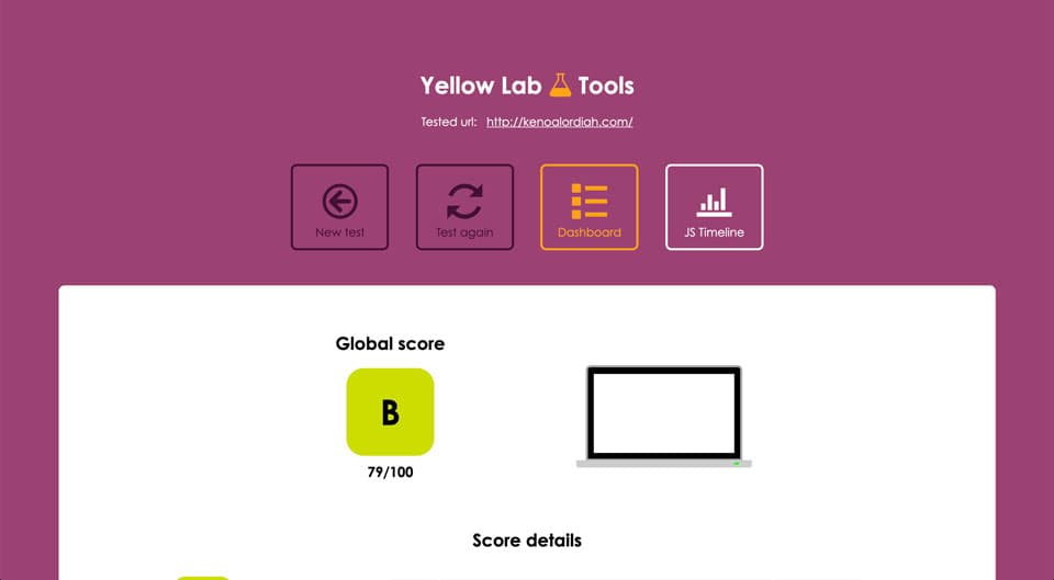 Website Auditing Tool - Yellowlab.tools