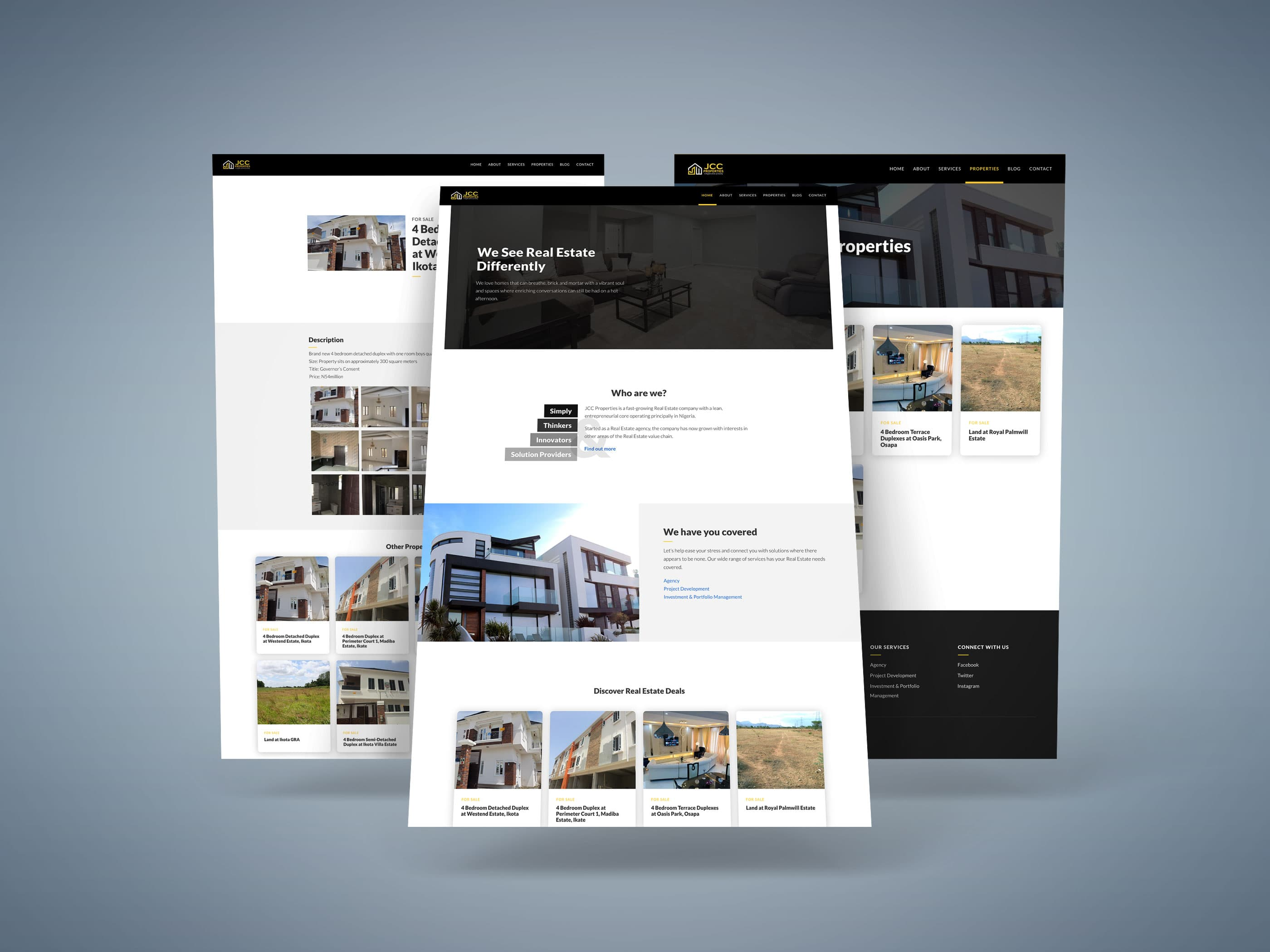 JCC Properties Website Design
