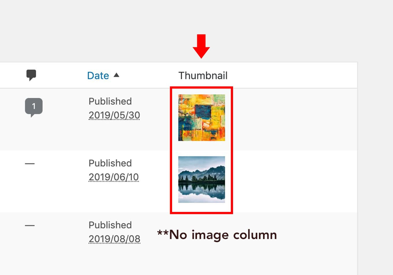 How to add Featured Image Thumbnail Preview to WordPress Posts Column.