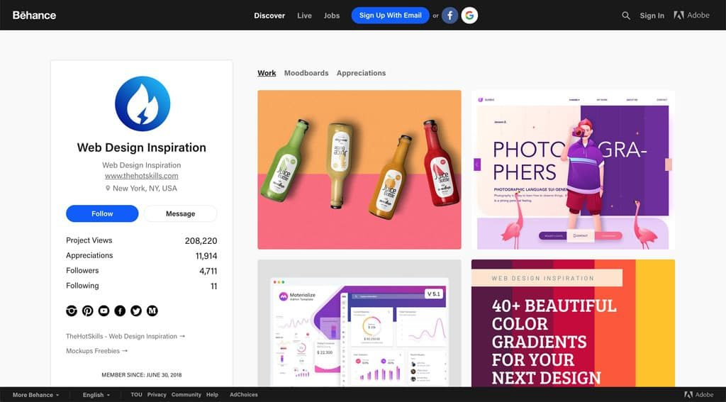 Behance - Web Design Inspiration