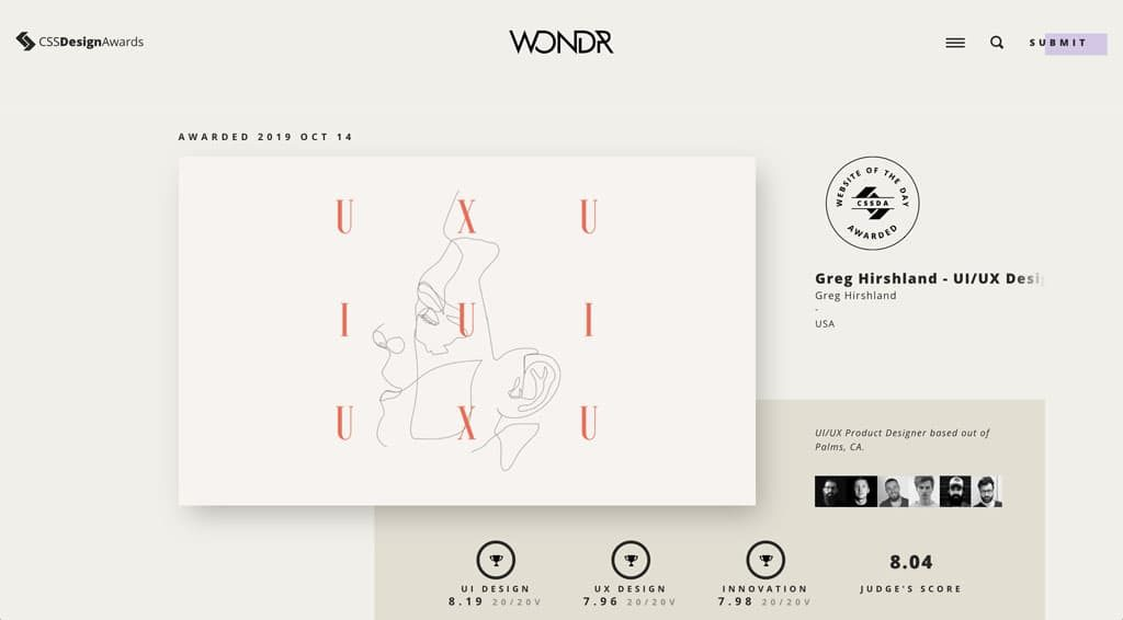 CSS Design Awards - Web Design Inspiration