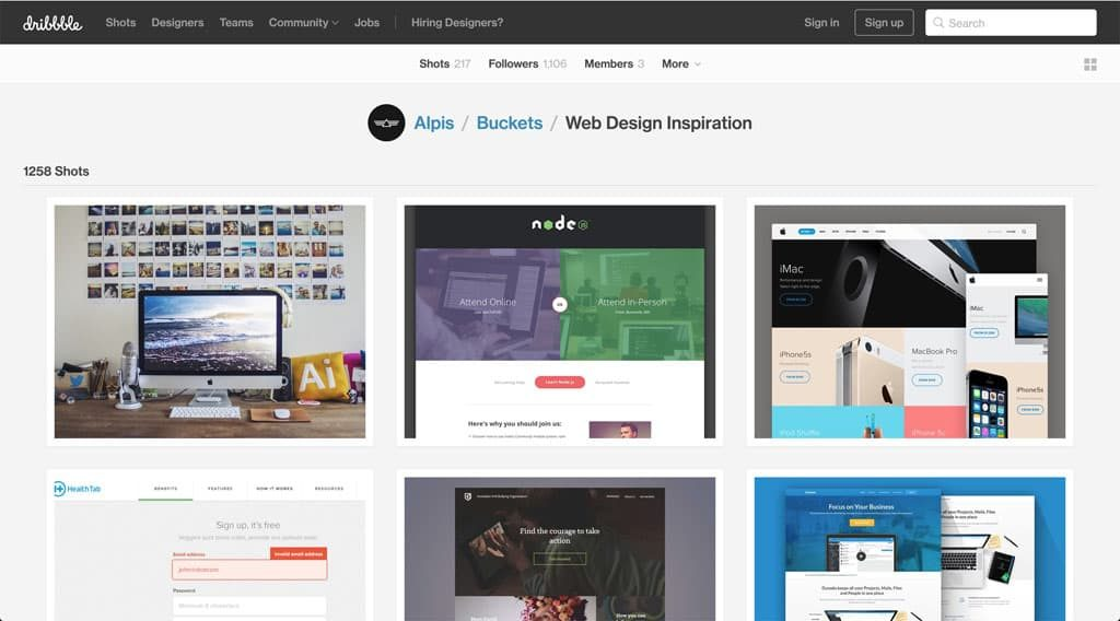 Dribbble - Web Design Inspiration