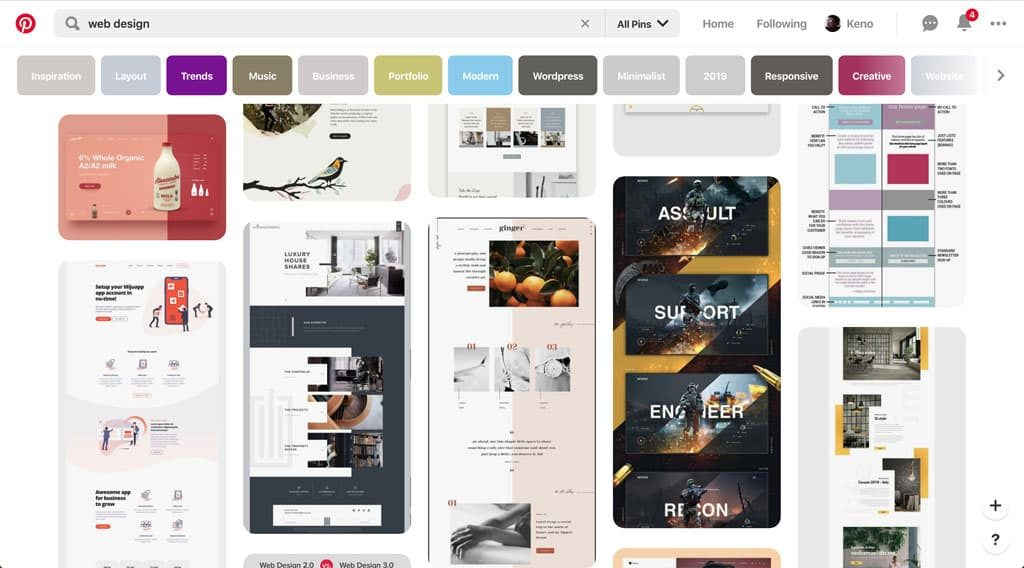 Pinterest - Web Design Inspiration